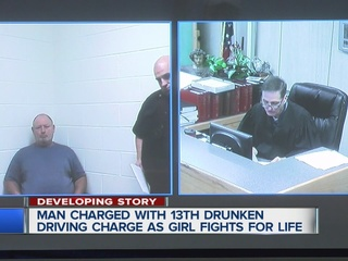 Man with 13 DUIs charged in serious injury crash