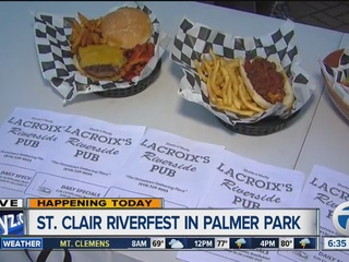 Riverfest going on this weekend in St. Clair