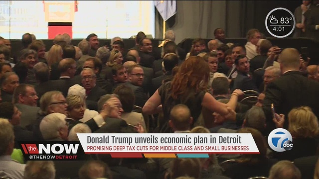 Trump targets taxes, regulations in Detroit economic speech