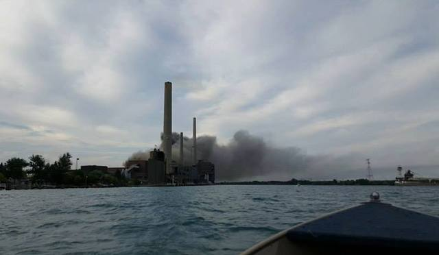 Crews battle fire at Michigan power plant; no injuries