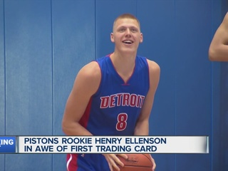 Ellenson in awe of first Pistons rookie card