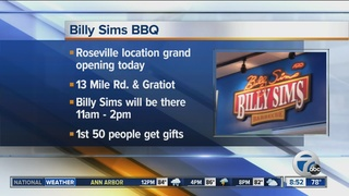 New Billy Sims BBQ opening in Roseville