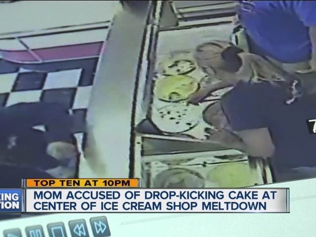 The Woman Who Is Accused Of Drop Kicking A Birthday Cake At Local Kroger Allegedly Assaulted An Ice Cream Store Worker Last Summer