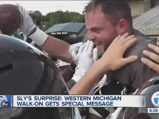 Sly Stallone surprises WMU player with full-ride