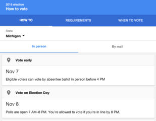 Google launches state-tailored voting guides