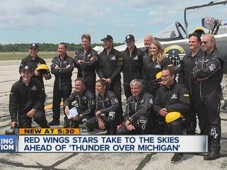 WATCH: Larkin, Abdelkader fly with jet team