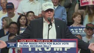Trump speaks on black voters in Lansing speech