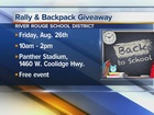 Back to School Rally & Backpack giveaway