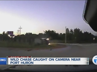 Dash-cam video shows wild police chase
