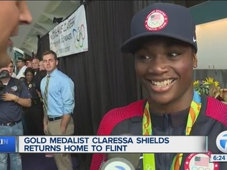 Gold medalist Claressa Shields returns to Flint