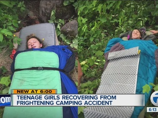 Teens talk about near-death camping experience