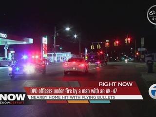 Man, son narrowly dodge bullets during shootout