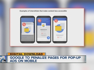 Google to punish mobile pages with pop-up ads