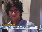 Parents desperate to locate missing son