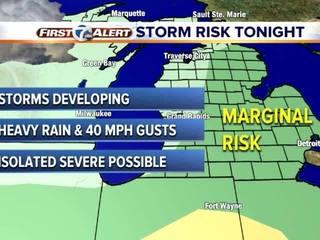 FORECAST:Slight risk for severe weather Thursday