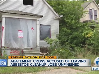 Crews accused of leaving asbestos jobs