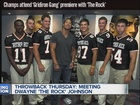 Throwback Thursday: Galli meets The Rock in '06