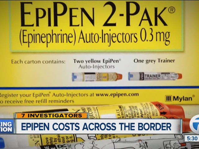 We crossed the border and found EpiPen prices are much lower in Canada