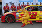 Logano wins another Sprint Cup pole at Michigan