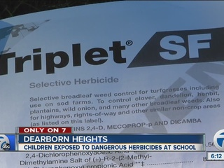 Were chemicals used at local elementary school?