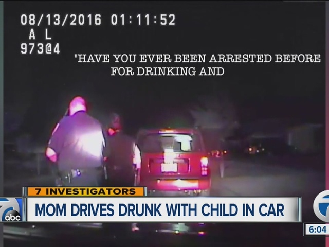 Mom caught on camera drunk driving with child in car