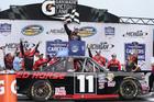 Moffitt wins MIS Trucks race on final-lap pass