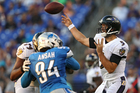 Ravens rout Lions in Flacco's return