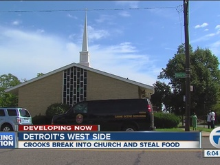 Church thieves steal cake and chips