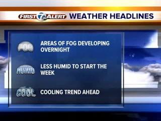 FORECAST: Cooler temperatures around the corner