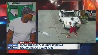 Carjacking suspect caught on video after crime