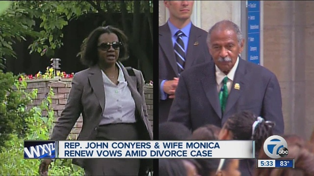 Congressman John Conyers Wife Monica Renew Vows Amid