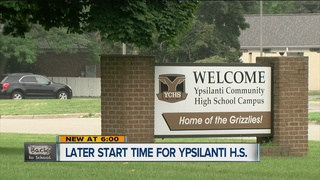 Ypsilanti High students to have later start