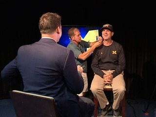 Jim Harbaugh's highlight of the offesason