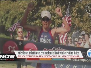 Michigan triathlete champion dies in bike crash
