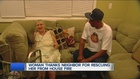 Neighbor rescues 96-year-old from house fire