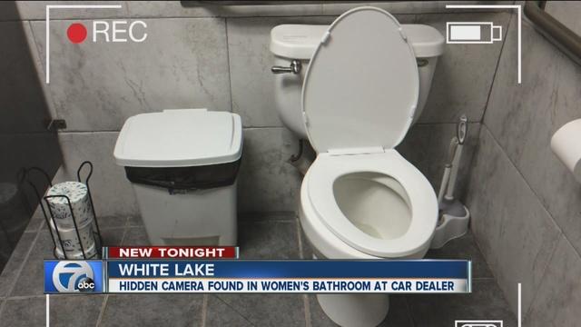 camera found in womens bathroom at michigan dealership - Womens Bathroom