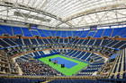 US Open's roof closed for 1st time during match