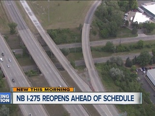 Drivers, rejoice: MDOT reopens northbound I-275