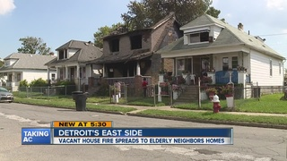 Vacant house fire damages neighboring homes