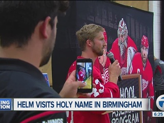 Helm visits B'ham school with message for kids