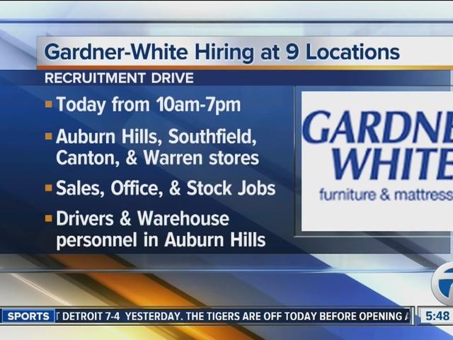 Gardner White To Hold Recruitment Drive On Thursday September 8