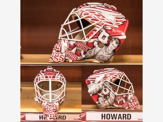 Red Wings unveil Jimmy Howard's 2016 goalie mask