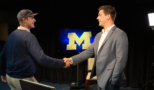 Jim Harbaugh eats a booger, denies ever eating boogers