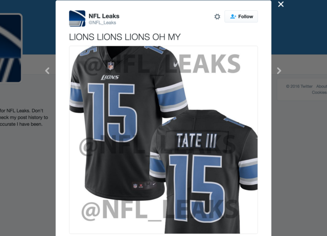 New detroit lions third jersey  for sale