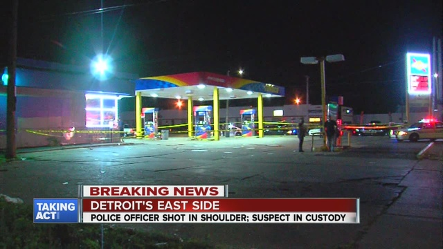Officer injured during pursuit of shooting suspect