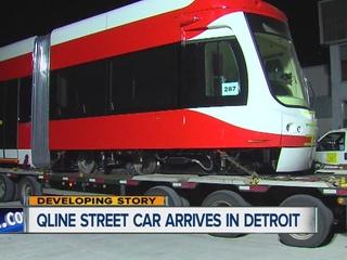 First QLINE streetcar arrives in Detroit