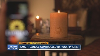 High-tech candle can be controlled by smartphone