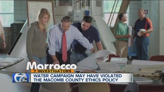 Did commercial violate Macomb Co. ethics policy?