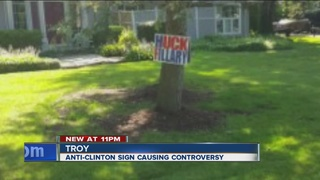 Anti-Hillary sign stolen 3 times from yard