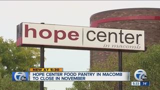 Hope Center in Fraser closing on November 1st